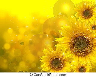 Sunflowers abstract background