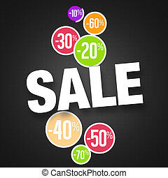 Sale Creative Graphic Illustration Design - Sale