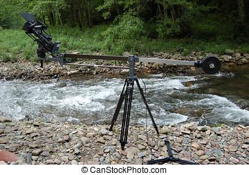 TV Camera in crane
