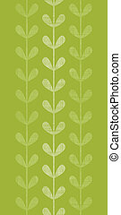 Abstract textile green vines leaves vertical seamless...