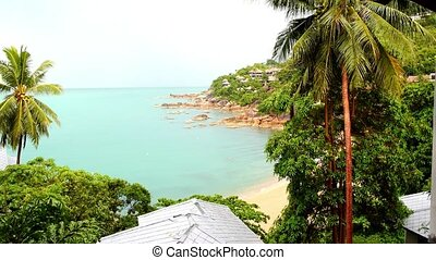 Beautiful Beach Panorama from Sea View Villa Thailand Koh...