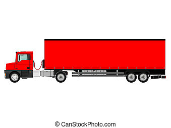 Truck - Large goods vehicle on a white background Vector