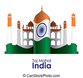India design over white background, vector illustration