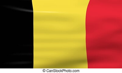 Waving Belgium Flag, ready for seamless loop.