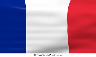 Waving France Flag, ready for seamless loop.