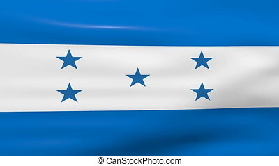 Waving Honduras Flag, ready for seamless loop.