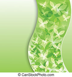 background with green butterflies.