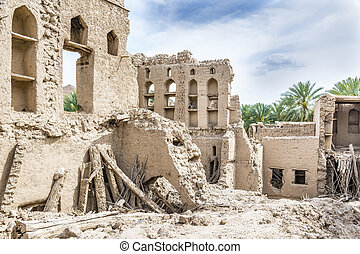 Birkat al mud ruins - Image of ruins in Birkat al mud in...