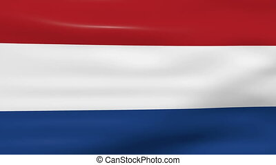 Waving Netherlands Flag, ready for seamless loop