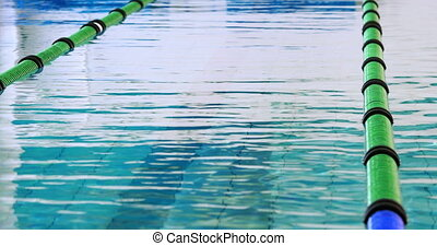 Swimming pool moving with lane mark
