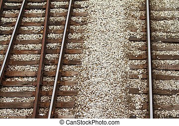rail road tracks - graphic view of rail road tracks