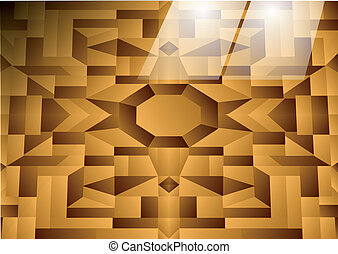 flor tiles wooden floor wirh reflection of light