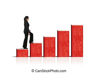Growth and success in business - Growth and success concept...