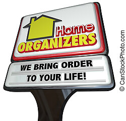 Home Organizers Store Sign Service House Cleaning Order