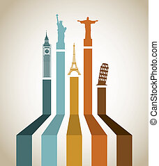 Travel design over beige background, vector illustration