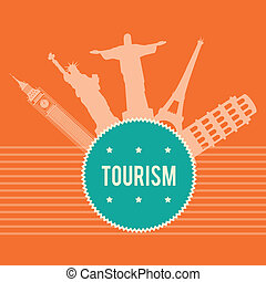 Travel design over white background, vector illustration
