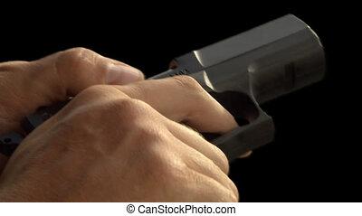 Handgun reloading