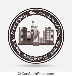 NYC design over white background, vector illustration