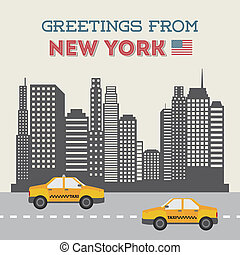 NYC design over white background, vector illustration
