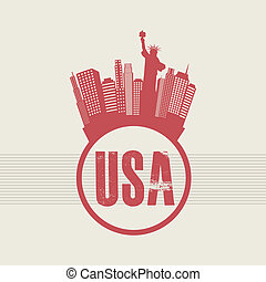 NYC design over beige background, vector illustration
