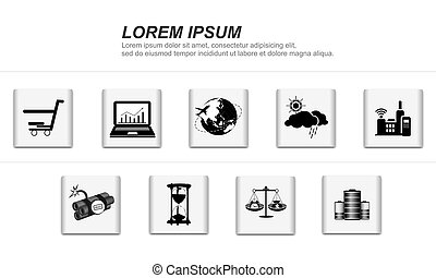 life icons - Vector set of simple life icons