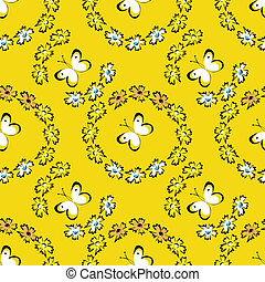 Seamless summer pattern with butterflies
