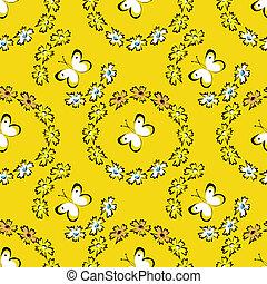 Seamless summer pattern with butterflies