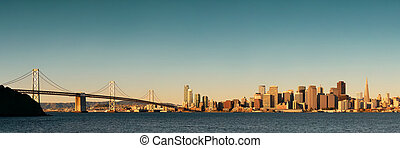 San Francisco skyline - San Francisco city skyline panorama...