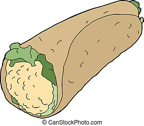 Chicken Salad Wrap - Chicken salad wrap with lettuce over...
