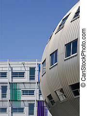 Modern architecture - Fashion center in Almere; a modern...
