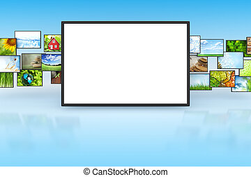 Tv screeen with images