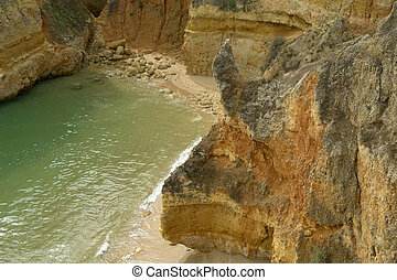 beach - small beach at algarve in the south of portugal