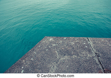 Jetty in a harbour
