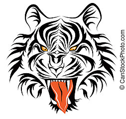 tiger head vector in eps10