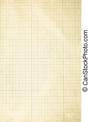 Old graph paper texture - An old blank graph paper sheet