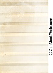Old music sheet - An old blank music sheet