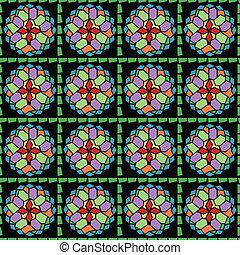Mosaic glass seamless pattern - Seamless pattern design of...