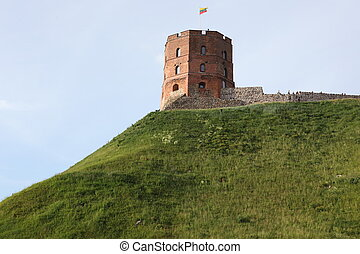 Tower of Gediminas, symbol of Vilnius, Lithuania