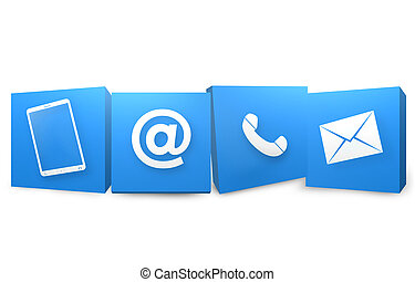 Contact Us Creative Design Graphic View - Contact Us