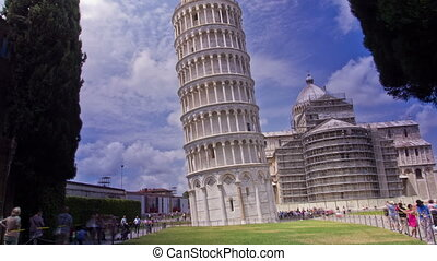 Leaning Tower, Pisa, Italy. Time Lapse. - The Leaning Tower...