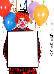 Celebration clown - Colorful dressed male holiday clown with...