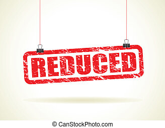 reduced hanging sign
