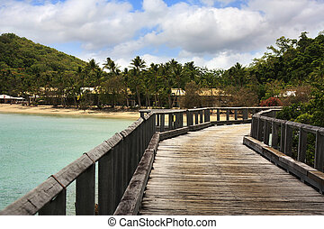 Long Island Australia - Walkway into Long Island Whitsundays...