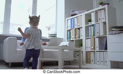 Pause for Tenderness - Slow motion of adorable kid running...