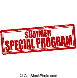 Summer special program - Stamp with text Summer special...