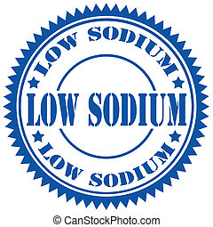 Low Sodium-stamp - Rubber stamp with text Low Sodium,vector...