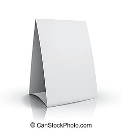 3d vector blank white paper table card - modern 3d vector...