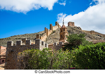 Albarracin's wall, Teruel, Spain.