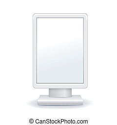 vector illustration of blank outdoor advertising lightbox -...
