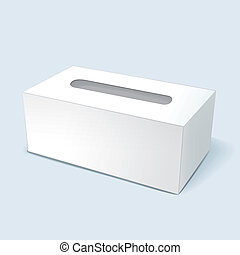 vector illustration of blank tissue box with soft shadow...